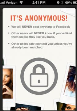 Anonymous tinder