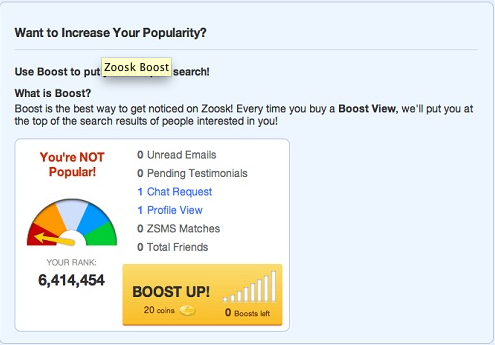 Zoosk coupon free month